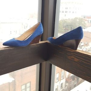 Sole Society Blue Wedges